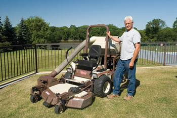Pastor takes leap of faith into landscaping industry