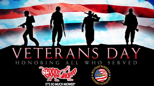 Veterans Day Grasshopper zero-turn mower MWSF