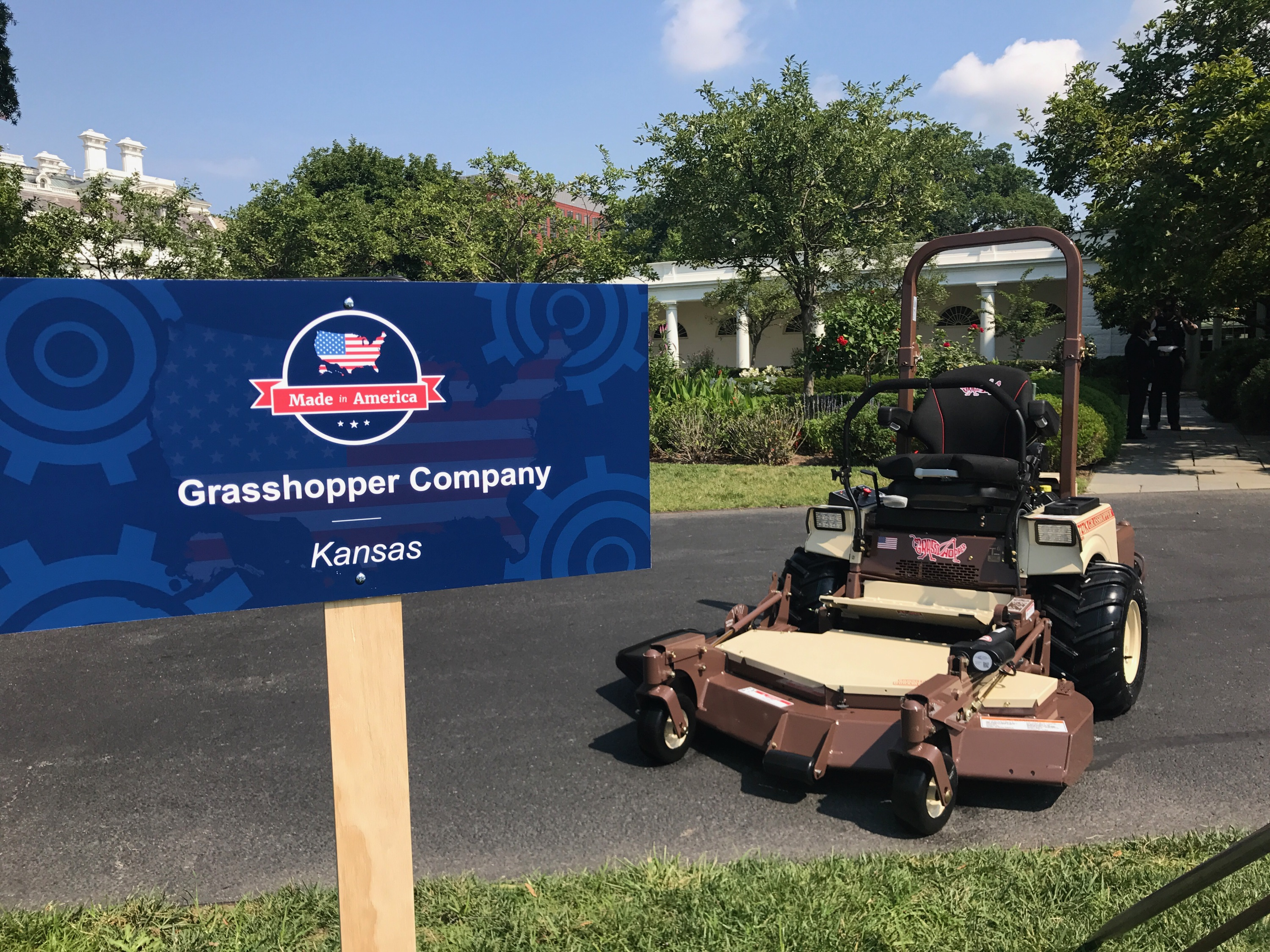 Grasshopper zero turn mowers White House