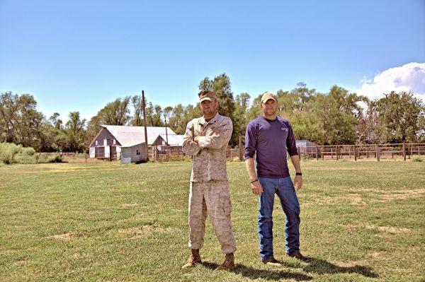 Fighter Farmer Grasshopper zero turn mower veterans