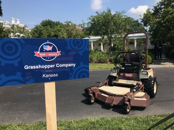 Grasshopper mowers white house made in america trump